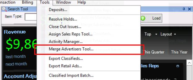 merge advertiser tool